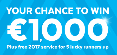 Your Chance to Win €1,000 - Plus free 2017 service for 5 lucky runners up