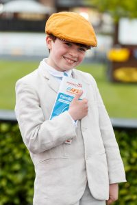 29/04/2017 Aidan Glynn (10) from Clane pictured at the AES Bord na Móna Family Day at the 2017 Punchestown Festival. Picture Andres Poveda ENDS For more information please contact AES Bord na Móna: Padraig Robinson / Sandra Ellis padraig.robinson@aesirl.ie / sandra.ellis@bnm.ie 087 3673444 / 087 0628063
